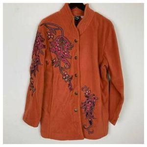 Bob Mackie Wearable Art Womens Jacket  L